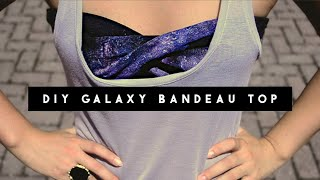 One of Letitia Kiu's most viewed videos: ✂ DIY Galaxy Bandeau Top
