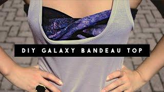 One of Letitia Kiu's most viewed videos: ✂ DIY Galaxy Bandeau Top
