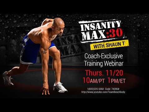 Coach Exclusive Max 30 Training Webinar with Shaun T
