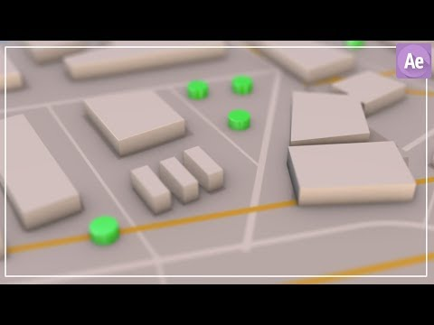 3D Navigation Map in After Effects Tutorial ( Element 3D ) thumbnail