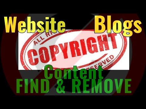 How to find Copyright content on website or blog
