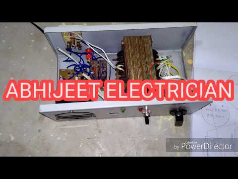 All connection auto cut voltage stabilizer hindi