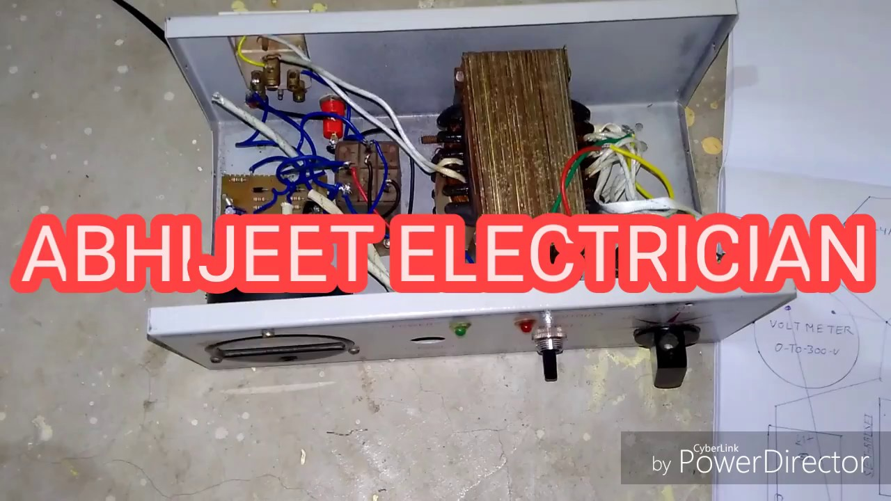 All Connection Auto Cut Voltage Stabilizer Hindi Youtube