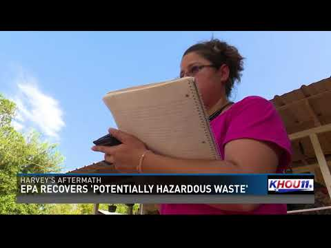 After sites flood during Harvey, EPA recovers potentially hazardous waste