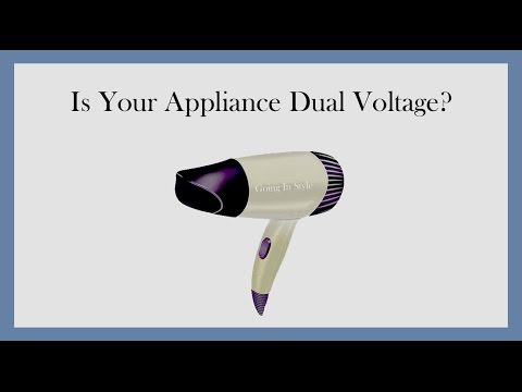 Is Your Appliance Dual Voltage? | Goinginstyle.com