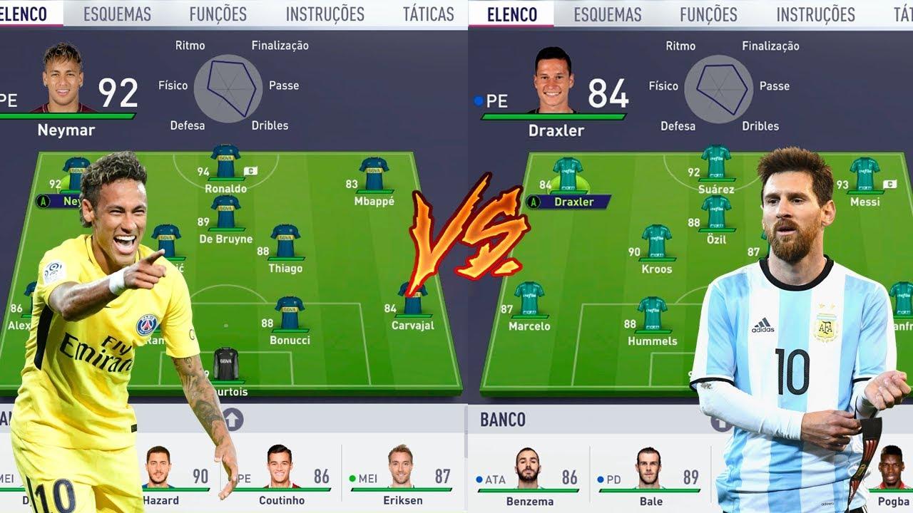 MELHORES DA NIKE VS MELHORES DA ADIDAS - FIFA 18 EXPERIMENTOS