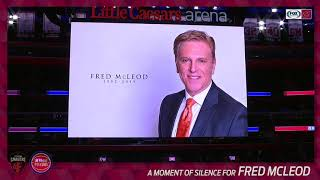Detroit Pistons pay tribute to Fred McLeod in preseason game vs. Cleveland Cavaliers