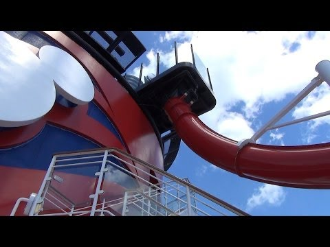 Disney Magic Cruise AquaDunk Slide Full Experience, Disney Cruise Line Reimagined