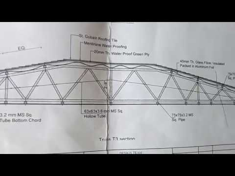 Details Drawing Of Truss Building Trusses Building Roof Trusses Attic Truss Youtube