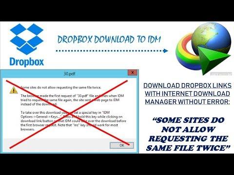 Fix downloading Dropbox files with IDM