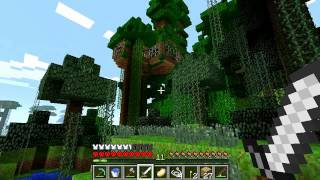 Minecraft Hardcore Series w/commentary:. Ep4  - The Skeleton Spawner/Treehouse den (HD)
