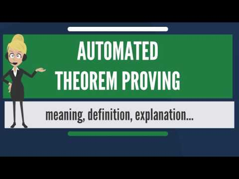 What is AUTOMATED THEOREM PROVING? What does AUTOMATED THEOREM PROVING mean?