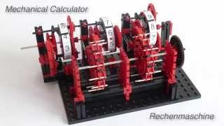 Mechanical Calculator / Calculating Machine / Rechenmaschine using fischertechnik