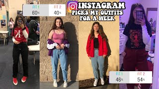 my Instagram followers choose my outfits for school for a week