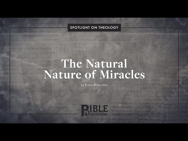 Does God Perform Miracles Through Nature? | Spotlight on Theology | The Natural Nature of Miracles