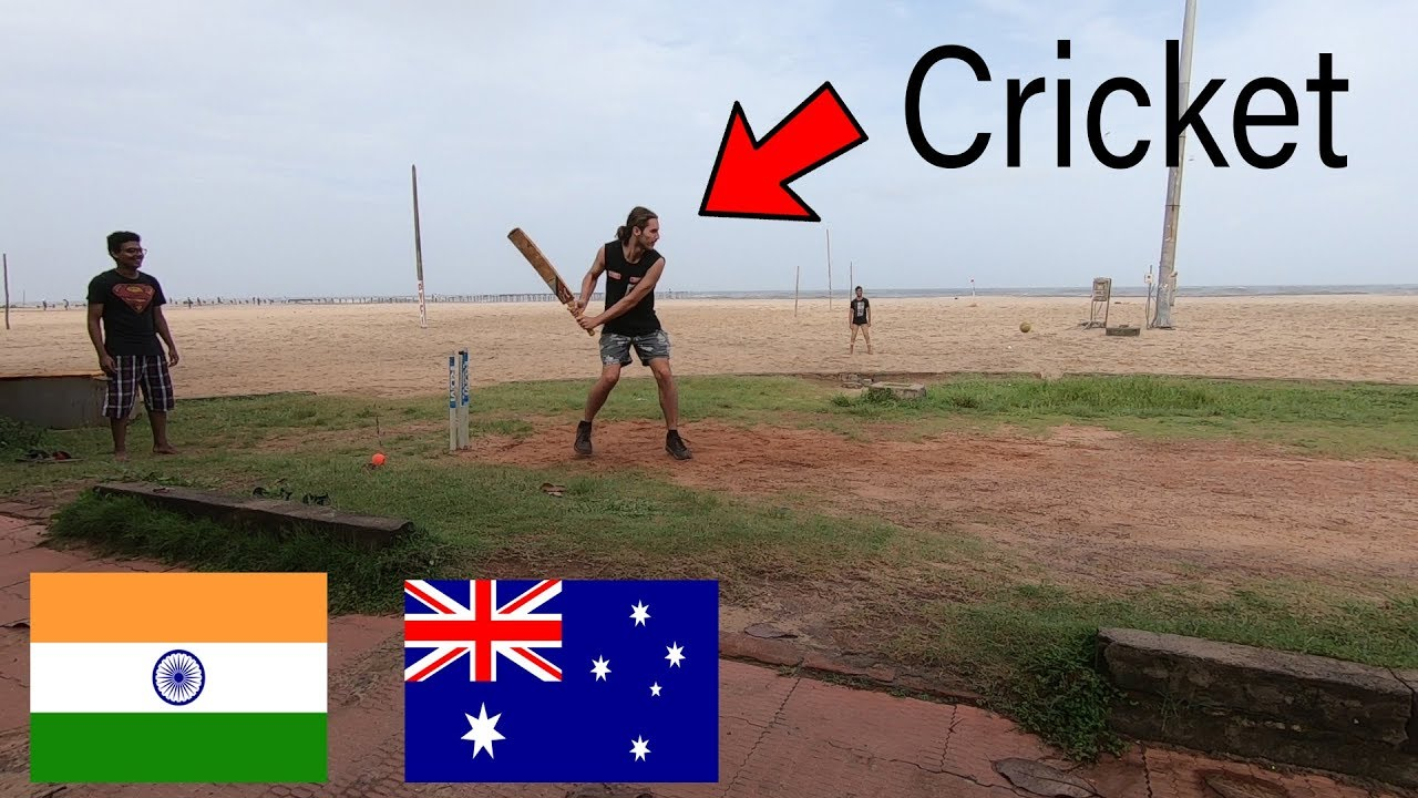 AUSTRALIAN playing CRICKET in INDIA | Alappuzha, Kerala