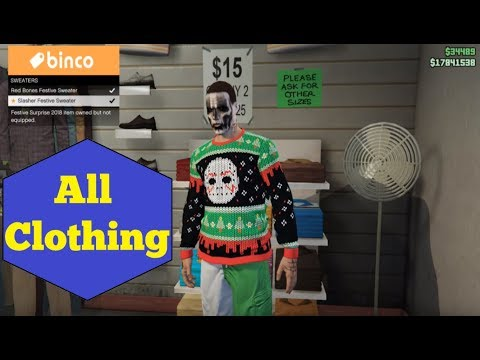 GTA V All Clothing For Men Grand Theft Auto 5 Online