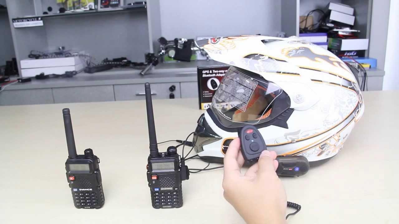 Motorcycle Bicycle Bluetooth Audio GPS Two Way Radio Adaptor