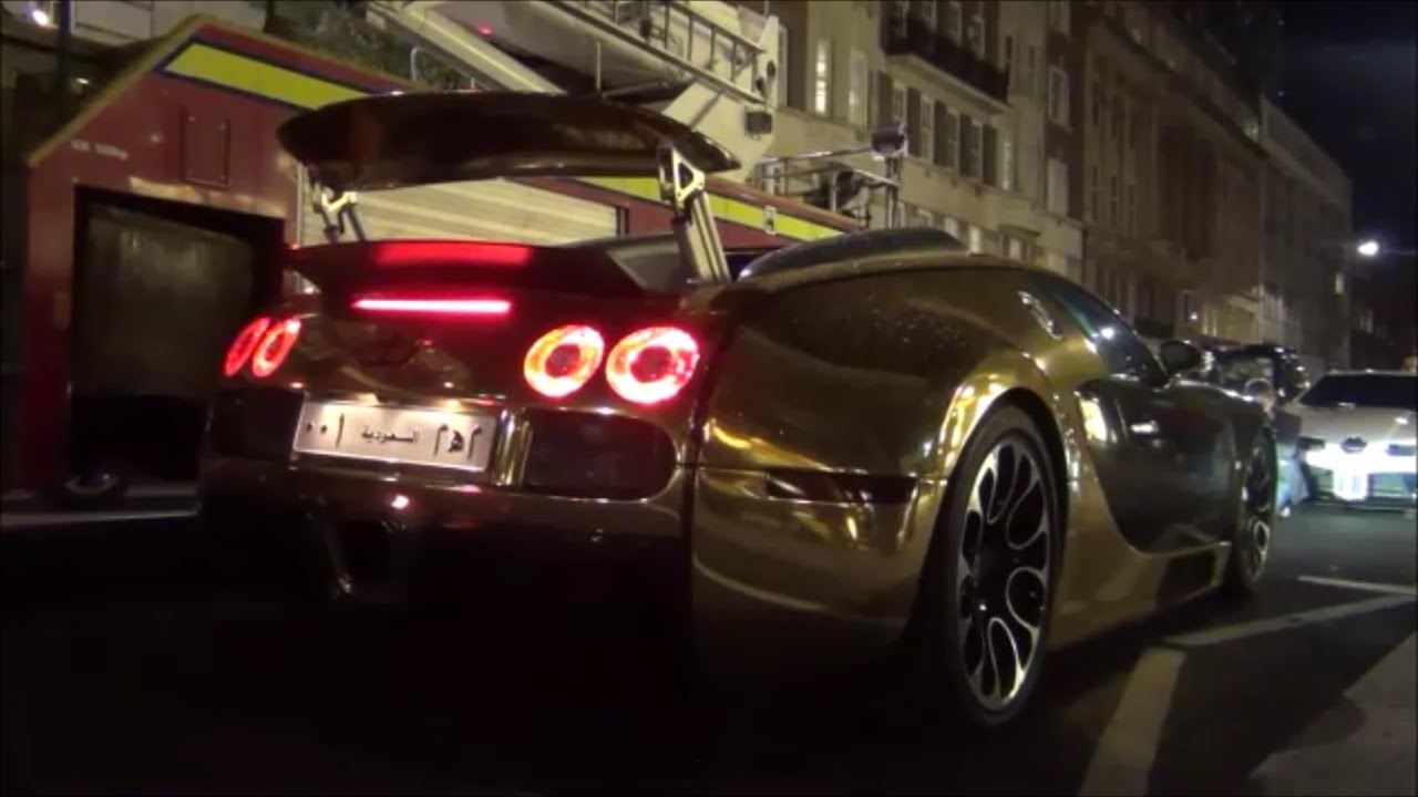 chrome gold bugatti veyron 0 60 mph in central london youtube. Black Bedroom Furniture Sets. Home Design Ideas
