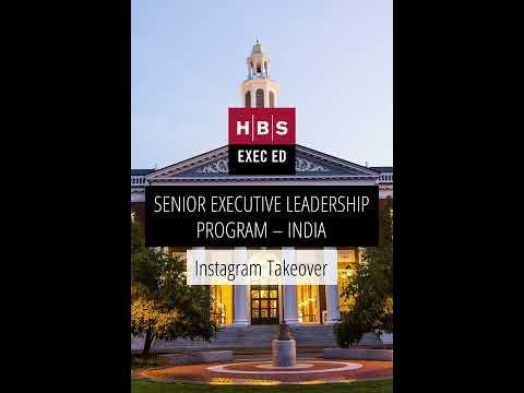 Instagram Takeover – Senior Executive Leadership Program India