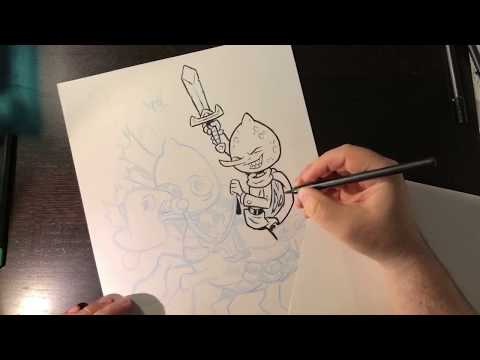 Inking A Conmission - Adventure Time