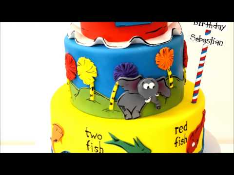 Dr Seuss Theme Cake Design