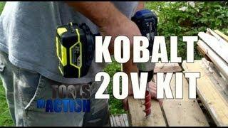KOBALT 4-Tool 20-Volt Lithium Ion Cordless Combo Kit