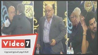 أسامة الشيخ ونبيل نور الدين و حجاج عبد العظيم فى عزاء والدة المنتج ممدوح شاهين