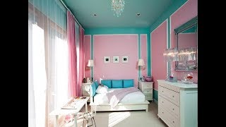 Top 40 Paint Design Ideas For Girls Bedroom | Cool Purple and Pink Cute Polka Dots Colour Ideas 2018