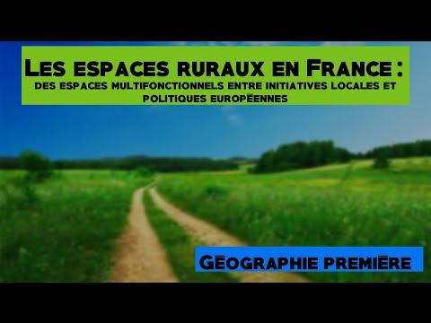 [Première géo] Les espaces ruraux en France - cours complet