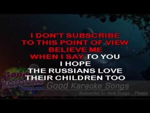 Russians -  Sting ( Karaoke Lyrics )