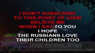 Russians - Sting ( Karaoke Lyrics )