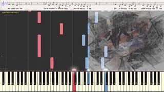 Скрипач на крыше - Loboda (Ноты и Видеоурок для фортепиано) (piano cover)