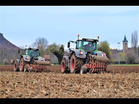 Big Ploughing In France   Fendt x2 933-828 & Grégoire Besson   14 corps au total !