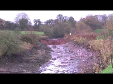 Lew's News Extra - The Grand Western Canal Embankment Collapse In Halberton - November 22 2012