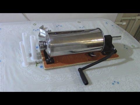 Обзор, Колбасный шприц для набивки колбас из магазина Емколбаски!