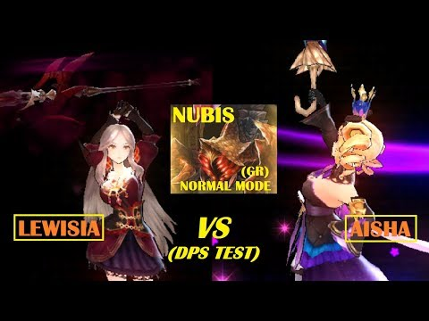 King's Raid - Lewisia vs Aisha Damage DPS Testing in GR Nubis