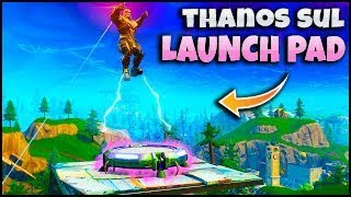WHAT IF THANOS SALTA over a LAUNCH PAD? FORTNITE ITA REAL VICTORY