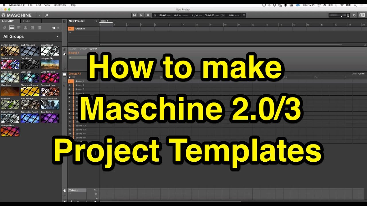 How to make Maschine 2.0 Project Templates - YouTube