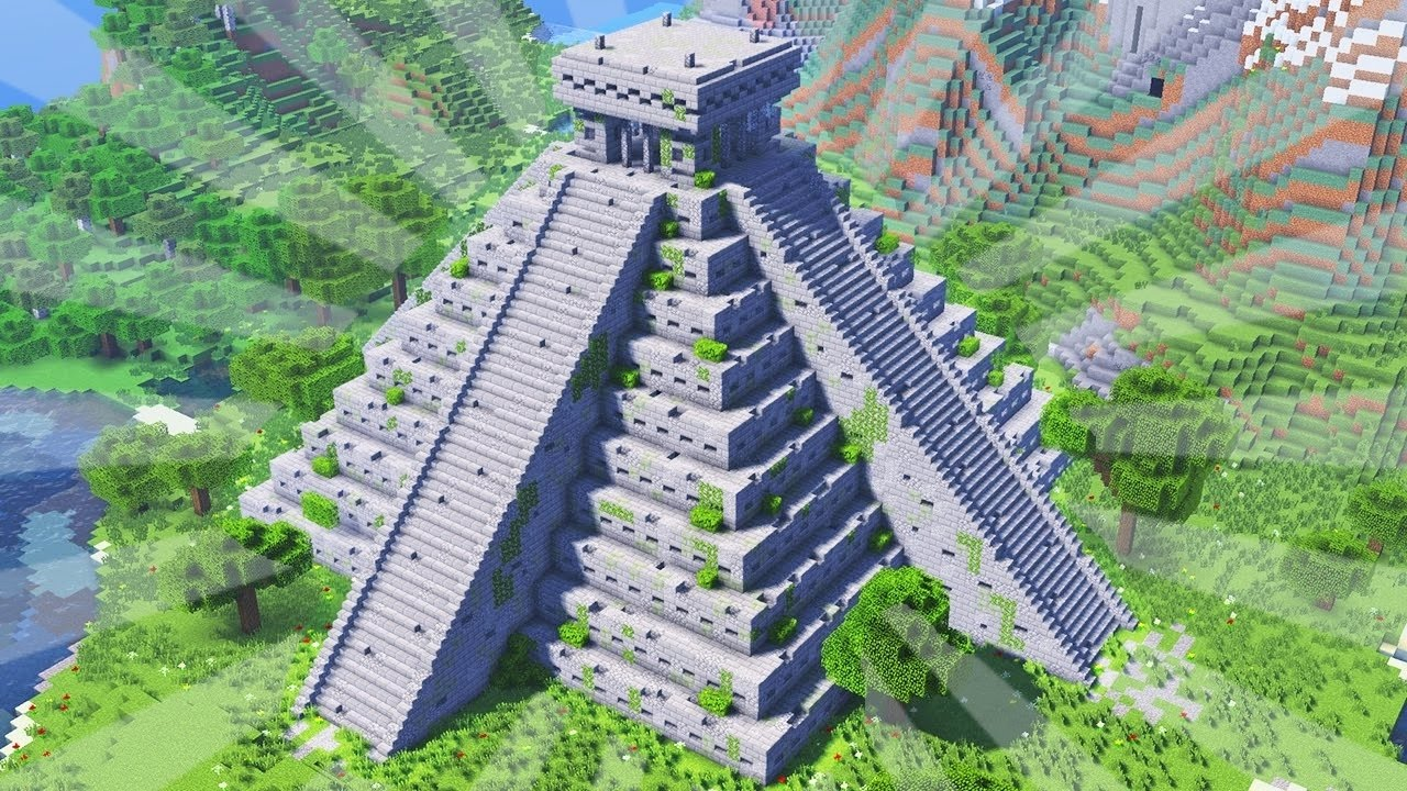 How To Build A Maya Temple In Minecraft Creative Building Youtube