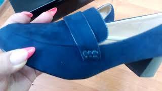 Обзор туфли женские Olivia синие