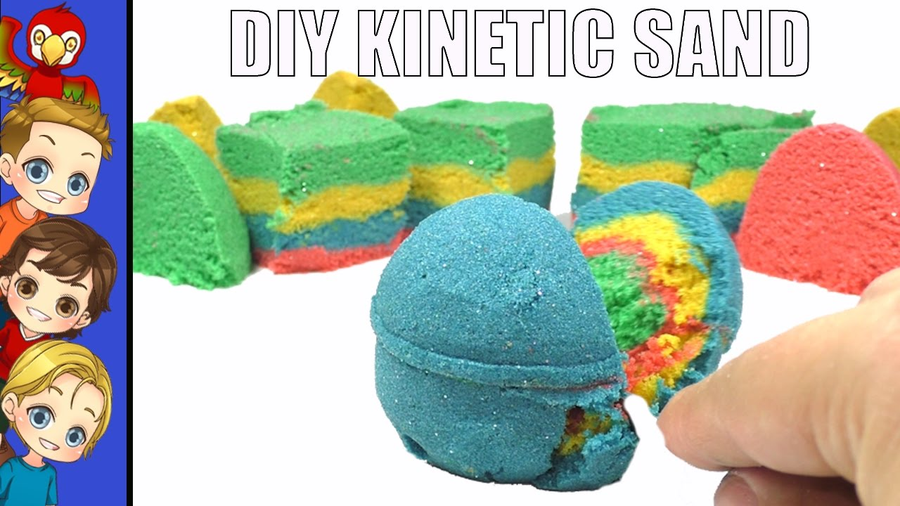 diy kinetic sand colored sensory toys for kids youtube. Black Bedroom Furniture Sets. Home Design Ideas