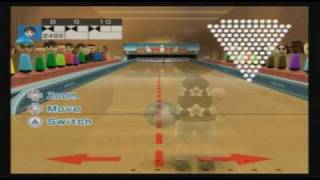 Wii Sports Resort - 100 Pin Bowling - Perfect Game (3,000)