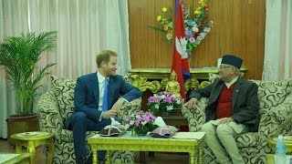 Prince Harry made PM Oli listen to story of military| ( Media Np TV)