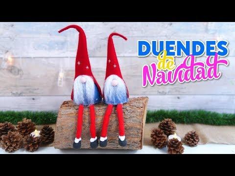 Mundo De Isa Manualidades.Manualidades Para Decorar En Navidad Como Hacer Duendes O Elfos De