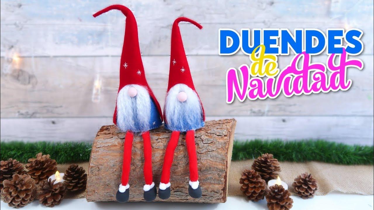 Manualidades Para Decorar En Navidad Como Hacer Duendes O Elfos De