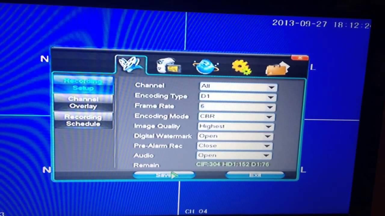 Digita Video Recorder Cctv Dvr Time  U0026 Date Setup