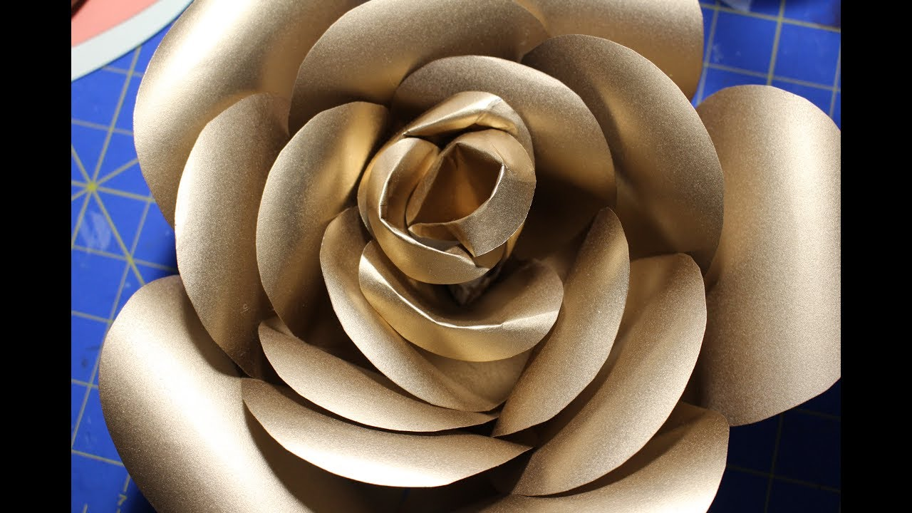 Round pattern gold paper rose part 1 youtube round pattern gold paper rose part 1 mightylinksfo