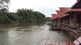 ล่องแพเมืองกาญ ห้องพักบนแพริมน้ำ วังนกแก้ว กาญจนบุรี Raft Riverside Wangnokkaew Park View EP.5/12