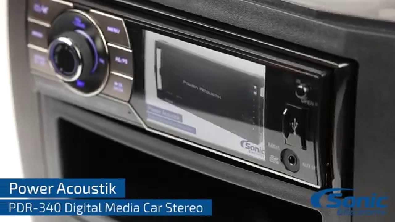Car Backup Camera >> Power Acoustik PDR 340 - YouTube